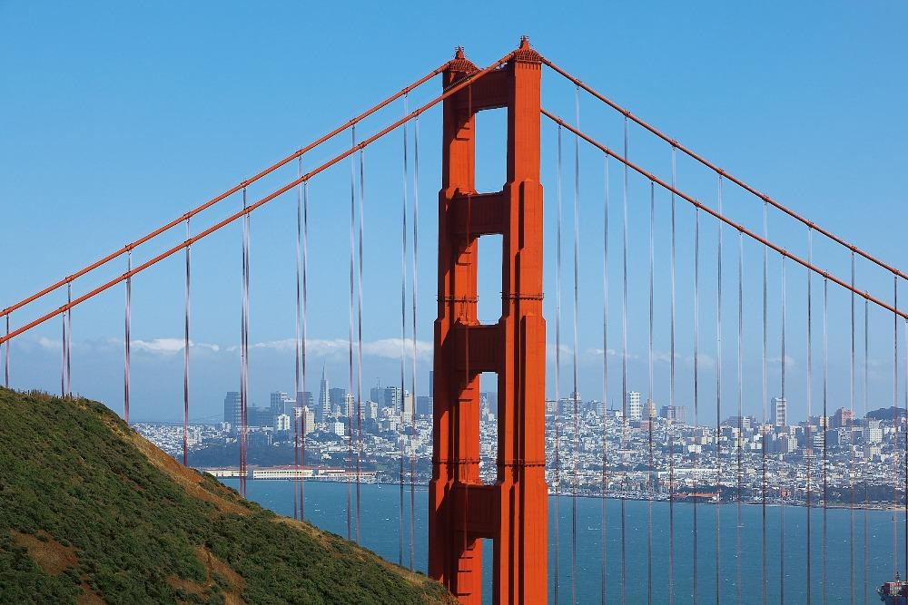 San Franciscos vartegn: Golden Gate Bridge