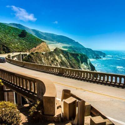 Big Sur langs Highway 1 er et af det smukkeste steder langs Californiens Stillehavskyst.