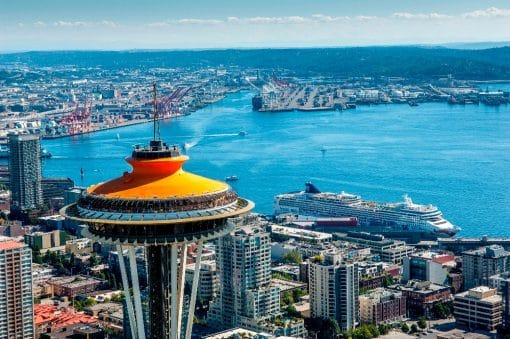 Space Needle og view over Seattle