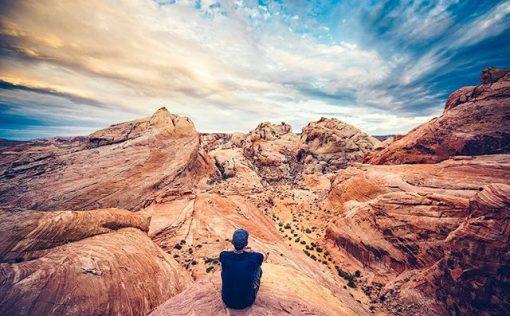 På en tur i autocamper i USA kan du besøge Valley of Fire nord for Las Vegas