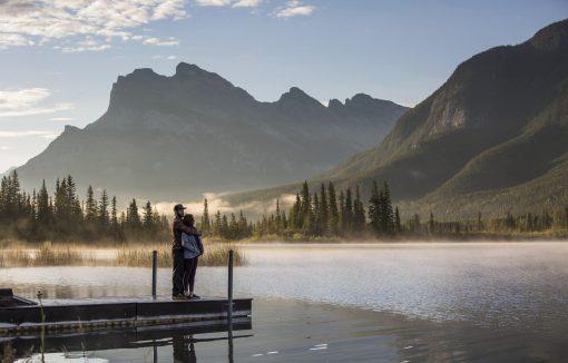 Smukke Lake Louise hvor det er muligt at leje kano