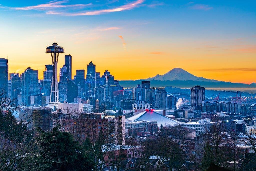 Turen gennem det nordvestlige USA begynder i Seattle.