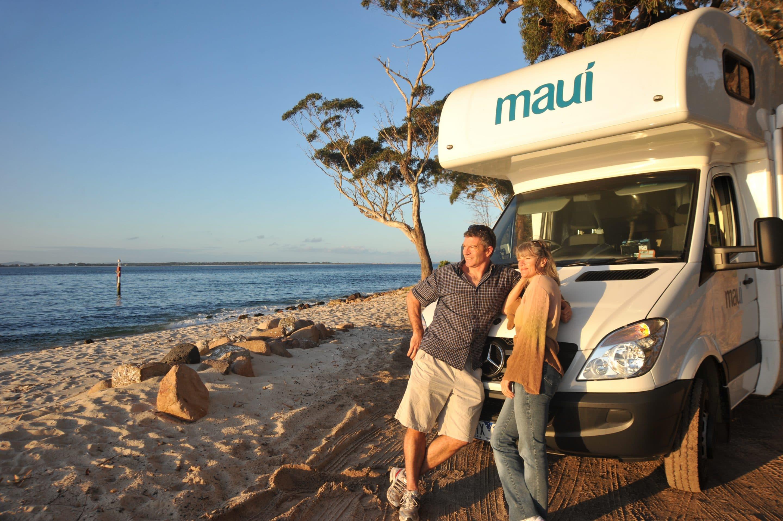 Lej Maui Beach autocamper her