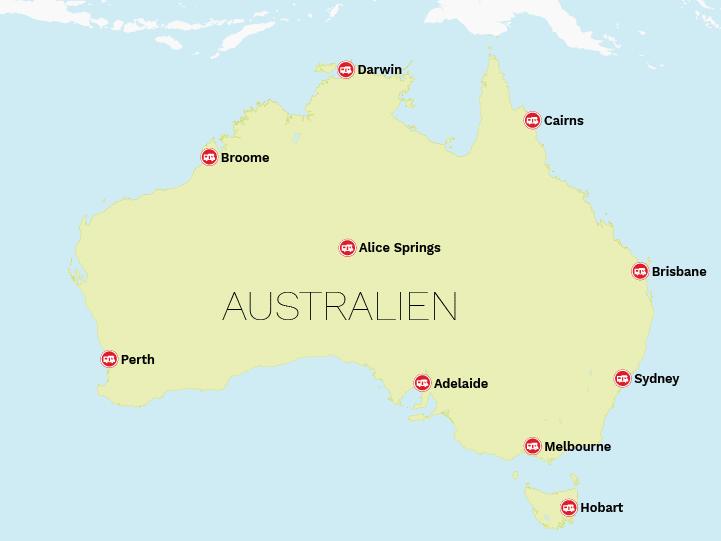 Autocamper stationer til Australien