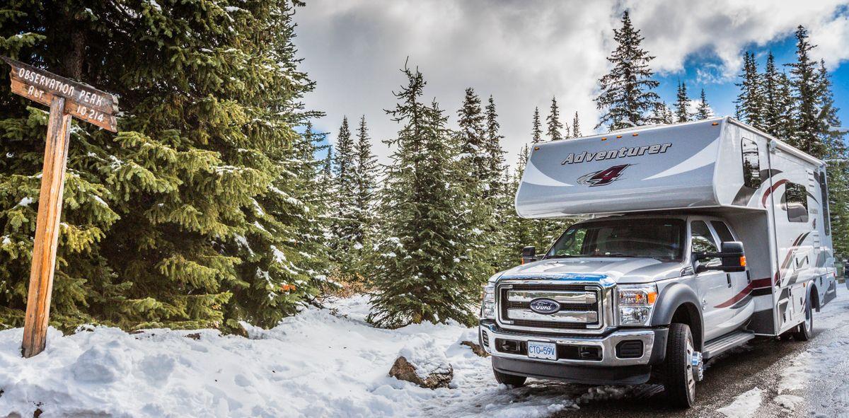 Vinter i autocamper i Canadaa