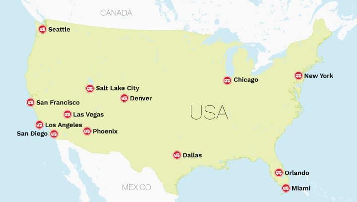 El Monte stationer i USA