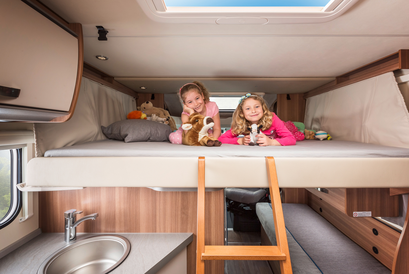 Das Hubbett im Family Traveller Plus