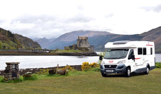 Leje af autocamper i Skotland