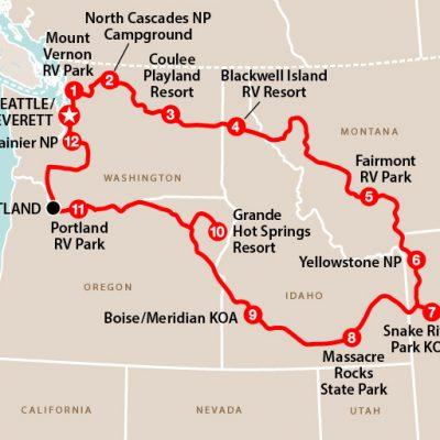 Det nordvestlige USA i autocamper