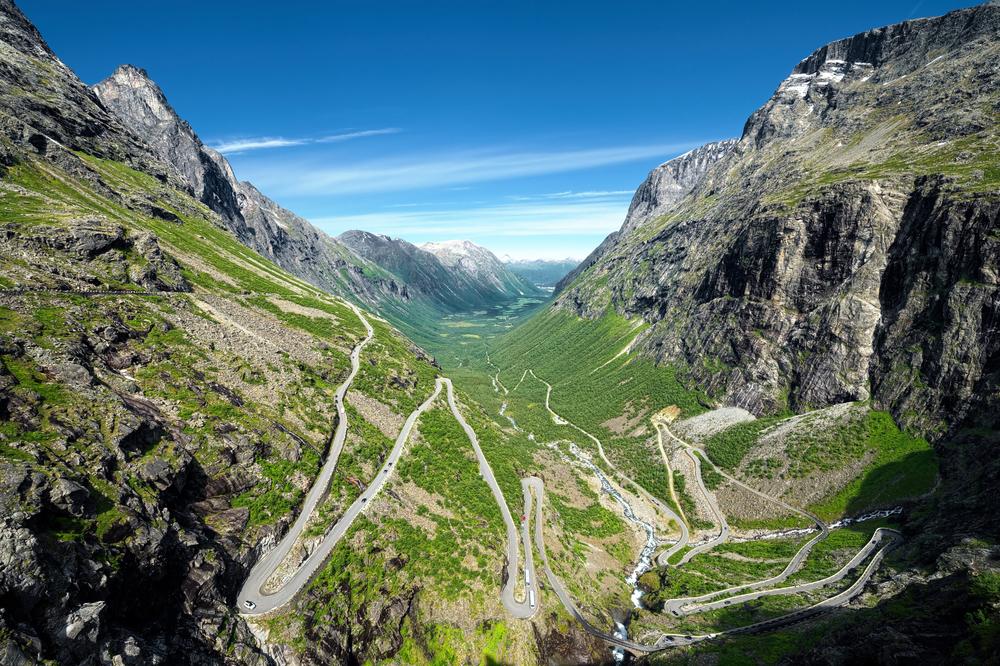 Trollstigen i Norge