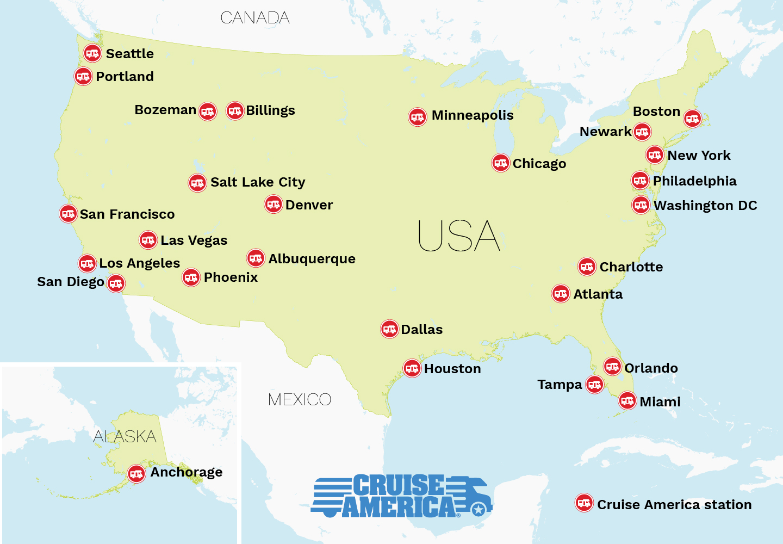 Cruise America autocamper stationer