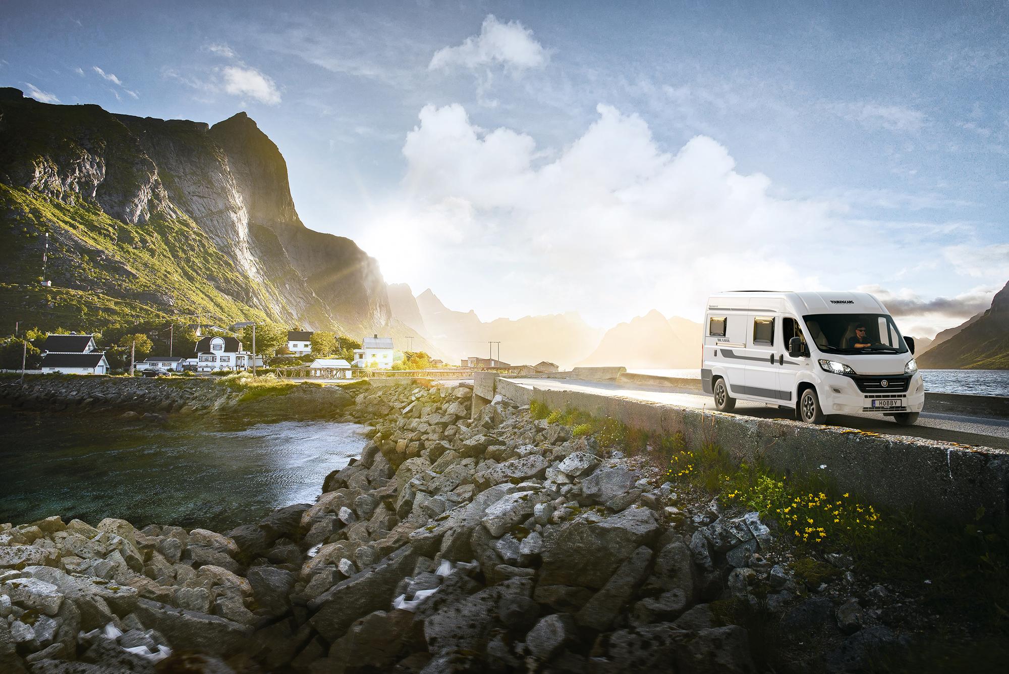 Autocamper (van) i det nordlige Norge