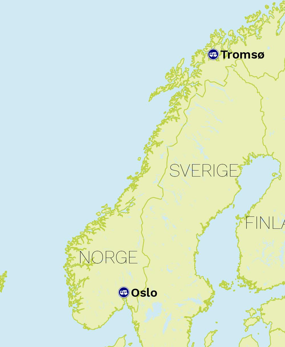 Autocamper Norge stationer