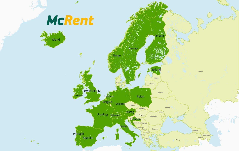 Her har McRent stationer